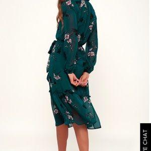 Lulus Teal Boho Spring Dress